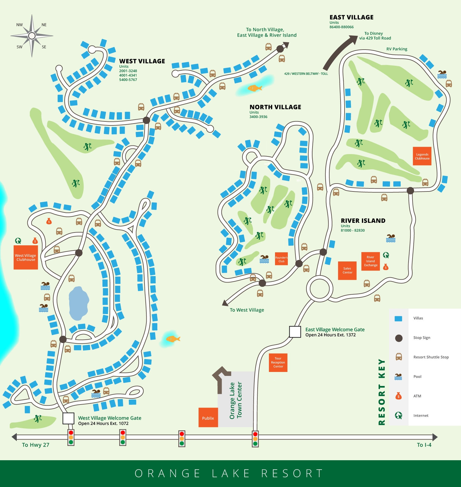 Orange Lake Resort Map Orlando Florida